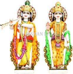 Exclusive Marble Radha Krishna Statues