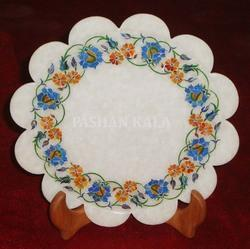 Round Shape Marble Stone Inlay Plate