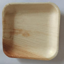 6 Inch Square Areca Leaf Plate