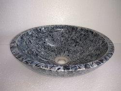 Glass Washbasin Grey