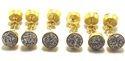 Golden Druzy Earrings
