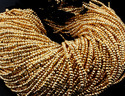Gold Pyrite Faceted Beads