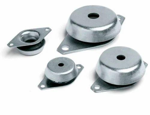 Double 39 u 39 shear mounts sandwich mounts and machine for Anti vibration motor mounts