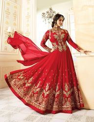 Semi Stitched Designer Churidar Suit
