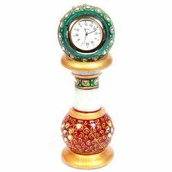 Marble Pillar Watch (Big) With Golden
