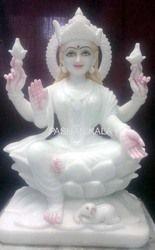 Decorative White Marble Laxmi Statue