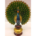 Wooden Peacock Statue