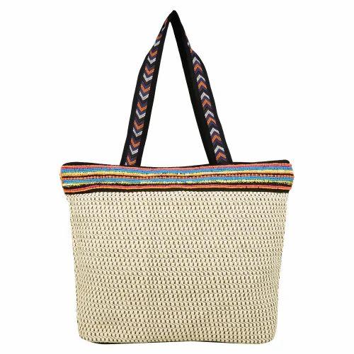 Gild Off-white Jacquard Shoulder Bag