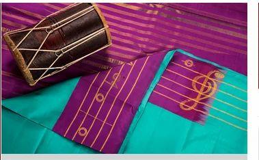 6582c09a38 Silk Saree Inspired From Bhairavi Raga & Peach And Green Kanchipuram ...