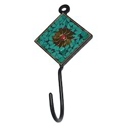 Iron Cloth Hanger With Stone Work