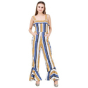 Western Wear Stripe Pattern Jumpsuit