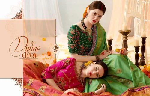 362cd5640d Designer Silk Sarees - Banarasi Silk Jaquard Sarees Wholesale Trader from  Surat