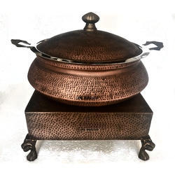Smokey Finished Lagan Set with Heritage Chowki