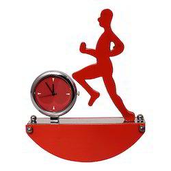 Running Man Shape Table/ Desk Clock Decorative Gift Item