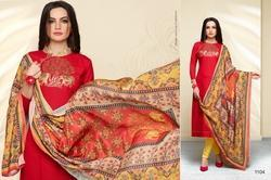 Collar Neck Masakali Salwar Suit Fabric