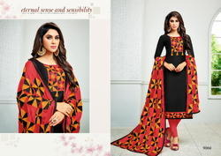 Round Neck Mirzya Salwar Suit Fabric