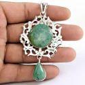 Hot Designer 925 Sterling Silver Turquoise Pendant