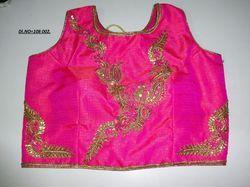 Pink Banglori Silk Stitched Blouse