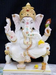 Marble Ganesha Statue White Marble Ganesh Statue