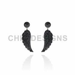 Black Diamond Designer Earrings