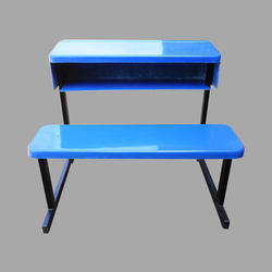 Blue FRP School Bench
