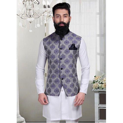 Mens Jacket Brocade Nehru Jacket Manufacturer From Jaipur