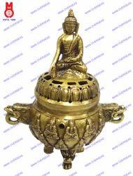 Dhoop Burner W/Buddha Lid & 3 Leg