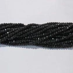 Black Spinel Faceted Gemstone Beads