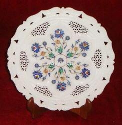 Stone Inlay Plate Handmade