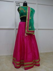Pink Dhupion Embroidered Lehenga Choli