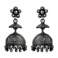 Big Special Moment 925 Sterling Silver Jhumka Earrings