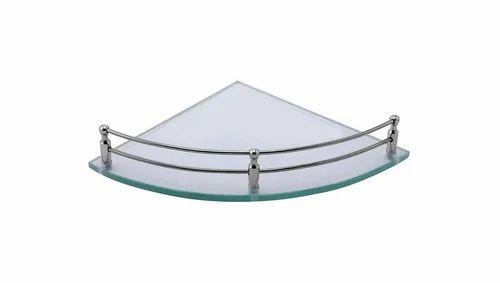 Klaxon Glass Corner Shelf