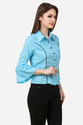 Blue And Black Ladies Shirt