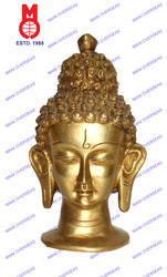 Lord Buddha Head On Rd.Base Statue