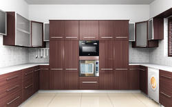 Upvc windows doors and false ceiling manufacturer for Aluminium kitchen cabinets in chennai