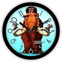 Brigade Black Wooden Wall Clock