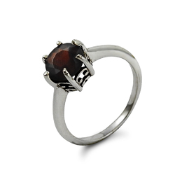 True Emotion Garnet Gemstone Silver Ring