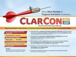 Clarithromycin 500 / 250mg