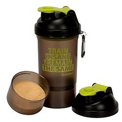 Green Shaker Bottles with Storage