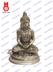 Hanuman Sitting Carved In Meditation Statue