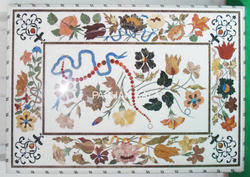 White Marble Pietra Dura Table Top