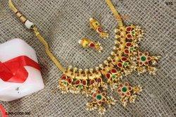 Traditional Gold Plated Bridal Neck Fit Necklace Set