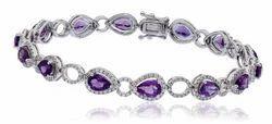 Amethyst Diamond Bracelets