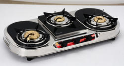 Three Burner Glass Top LPG Gas Stove