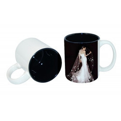 11oz Two-Tone Color Mug Black