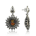 Handmade Enamel Earring 925 Sterling Silver