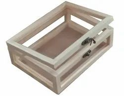 Pinewood Box with Transparent Sides and Top