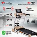 Powermax TDA-450 Multifunction Motorised Treadmill with Top speed 18.8km/hr
