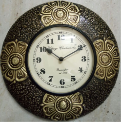 Wooden Brass Wall Clock