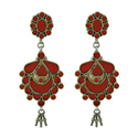 Earrings 925 Sterling Silver Garnet Jewelry